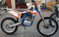 Gasoline Fuel Off Road Dirt Bike , Dirt Road Motorbike Orange Color