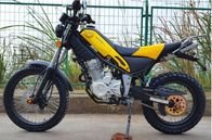 Steel Off Road Dirt Bike , 250cc 6 Gear Road Registered Dirt Bike Yellow Color